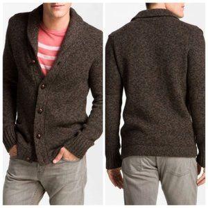 Vince Shawl Collar Wool Yak Button Cardigan